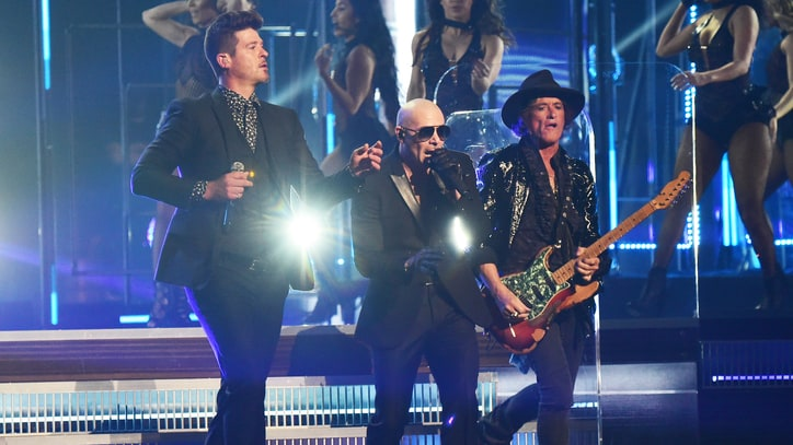 Pitbull Recruits Robin Thicke, Travis Barker for 'Bad Man' at Grammys