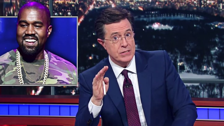 Watch Colbert Roast Kanye West on Twitter Business Proposals