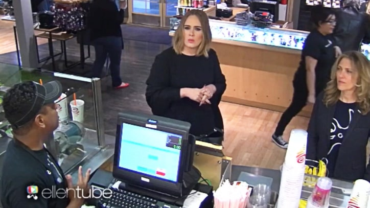 Watch Adele Confuse Jamba Juice Workers in Absurd 'Ellen' Prank