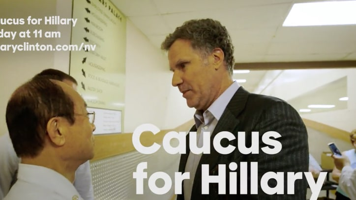 Watch Will Ferrell Rally for Hillary Clinton in Nevada