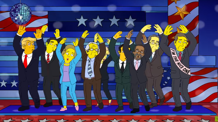 'Simpsons' Imagine World Where Presidential Candidates All Get Along