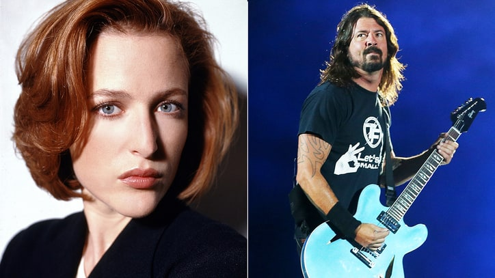 Gillian Anderson Talks Dave Grohl's 'X-Files' Cameo