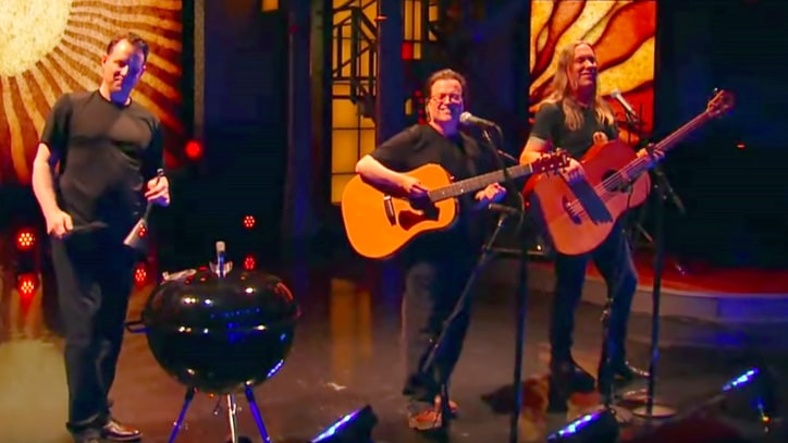 Watch Violent Femmes, Scatting Colbert Perform 'Blister in the Sun'