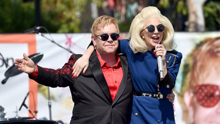 Watch Elton John and Lady Gaga Perform Together in Los Angeles