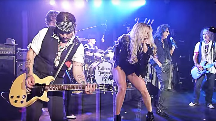 Flashback: See Kesha Sing Led Zeppelin With Alice Cooper, Johnny Depp