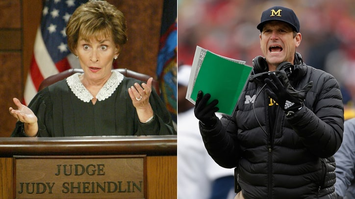 Jim Harbaugh Wants Judge Judy on the Supreme Court