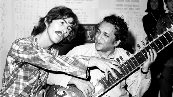 Hear Ravi Shankar Raga From Concert Attended by George Harrison