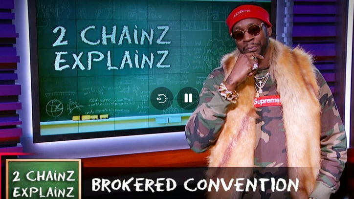 See 2 Chainz Explain Brokered Conventions on 'Nightly Show'
