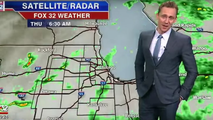 See Tom Hiddleston, as Loki, Deliver Chicago Weather Report