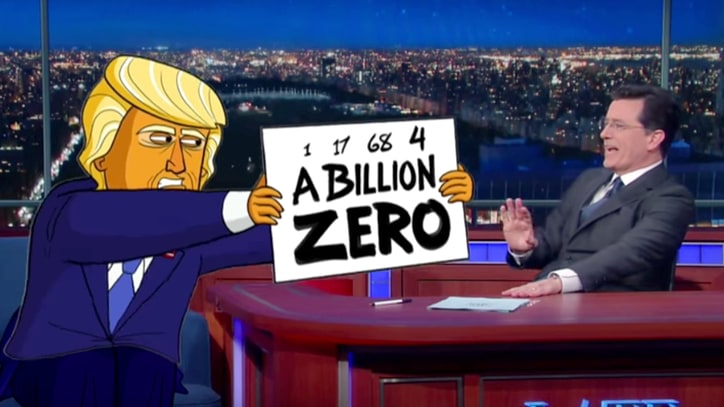 Watch 'Cartoon Trump' Fail to Grasp How Numbers Work on 'Colbert'