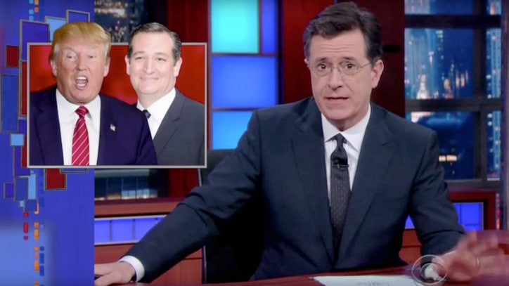 Watch Stephen Colbert Give Ted Cruz New Slogan: 'Abandon All Hope'