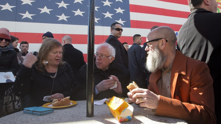 Watch Michael Stipe Stump for Bernie Sanders in Brooklyn