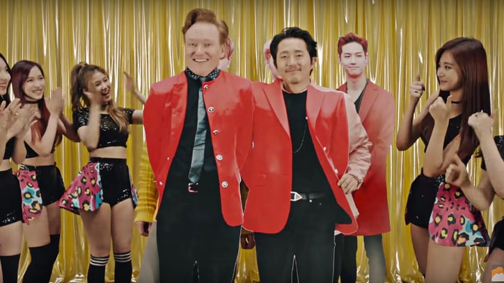 Watch Conan O'Brien's Glammy, Over-the-Top K-Pop Video