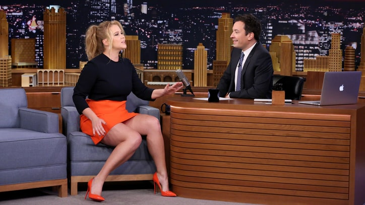 Amy Schumer Talks Plus-Size 'Glamour' Beef on 'Fallon'