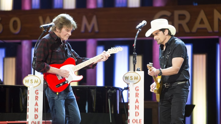 Watch Brad Paisley Introduce John Fogerty to the Grand Ole Opry