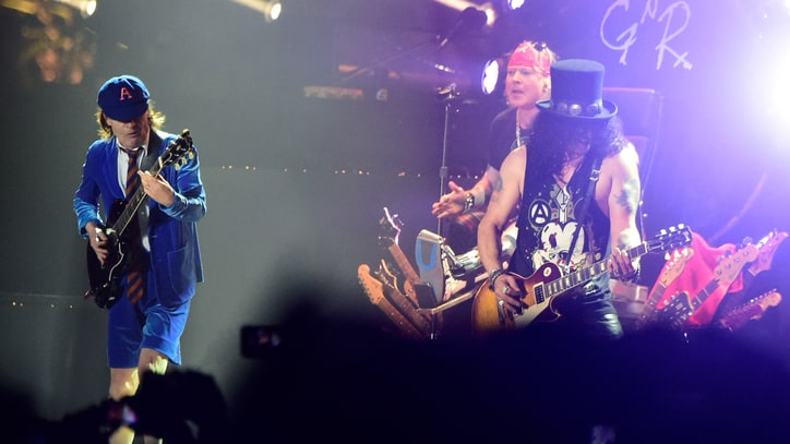 Watch Guns N' Roses Bring Out AC/DC's Angus Young at Coachella