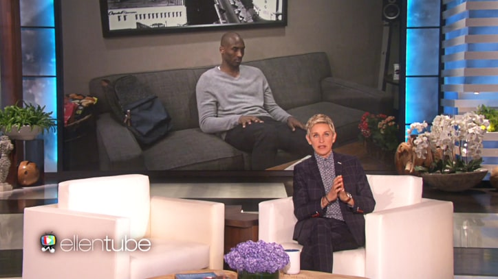 Watch Kobe Bryant's Seriously Sweaty 'Ellen' Prank