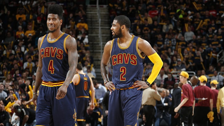 Watch Kyrie Irving and Iman Shumpert Take the 'Running Man Challenge'