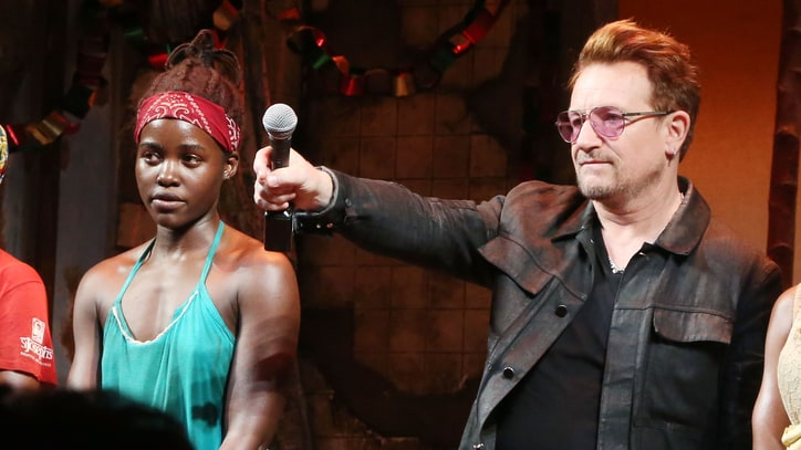 Watch Bono, Lupita Nyong'o Dedicate 'Eclipsed' Performance to Abducted Girls