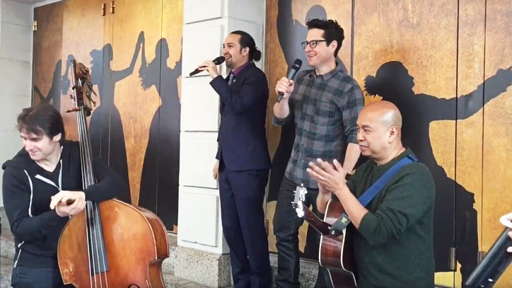 See Lin-Manuel Miranda, J.J. Abrams Perform 'Force Awakens' Song