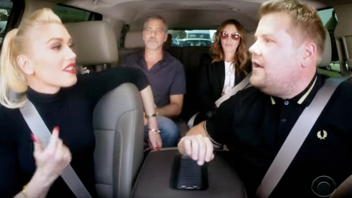 Gwen Stefani Enlists George Clooney, Julia Roberts for 'Carpool Karaoke'