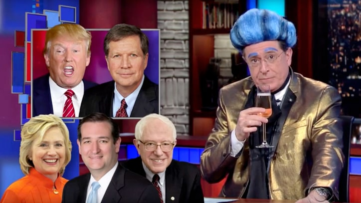 Watch Colbert Say Goodbye to 'Half-Kissed Frog Prince Ted Cruz'