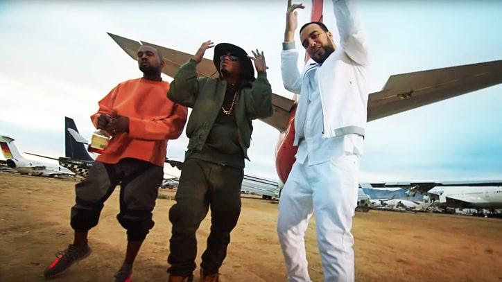 Kanye West, Nas, French Montana Stay Grounded in 'Figure It Out' Video