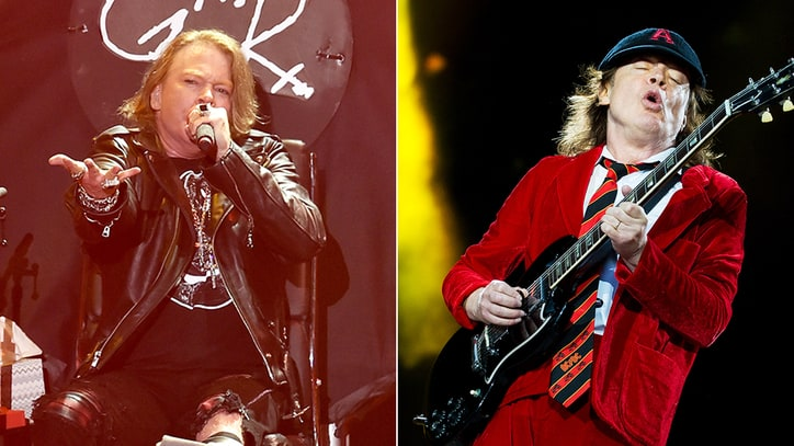 See Axl Rose, AC/DC Talk First Show Together