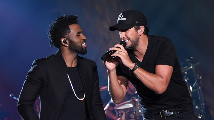 See Luke Bryan, Jason Derulo Trade Falsettos on 'Want to Want Me'