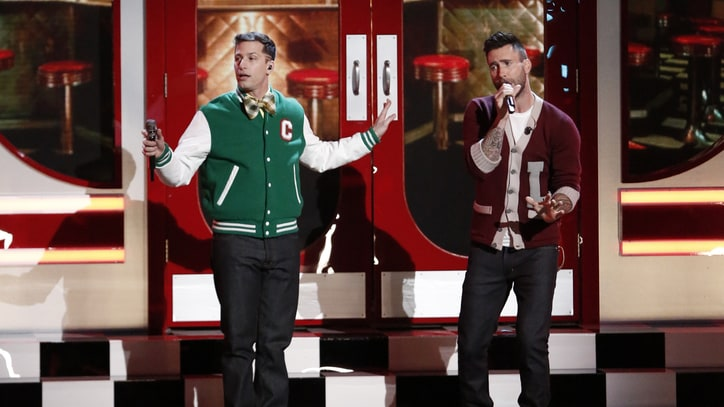 See Andy Samberg, Adam Levine Debut 'I'm So Humble' on 'The Voice'