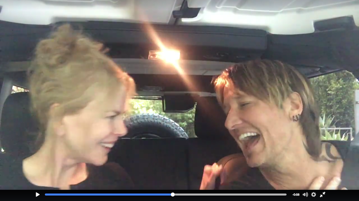 See Keith Urban and Nicole Kidman's Front-Seat Duet of 'The Fighter'