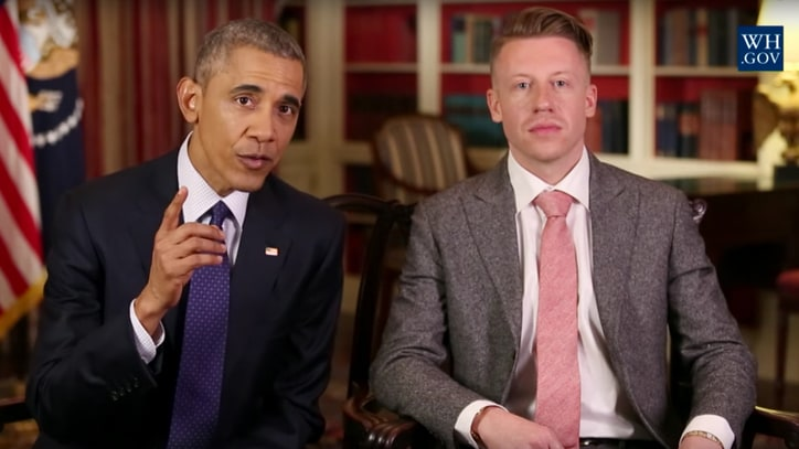 Watch Barack Obama, Macklemore Discuss Opioid Addiction