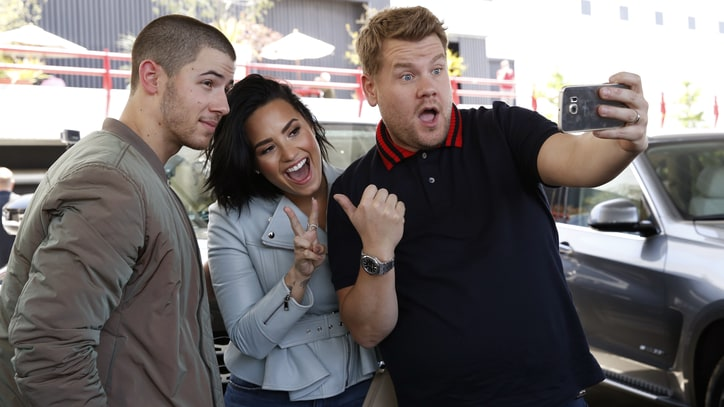 Demi Lovato, Nick Jonas Talk Purity Rings on 'Carpool Karaoke'