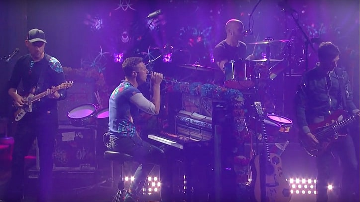See Chris Martin Pen Lyrics for 'Colbert' Theme Song