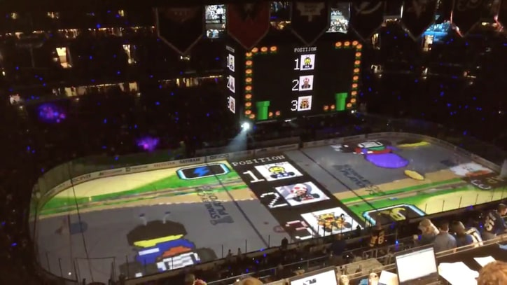 The Lightning Deserve the Stanley Cup for This 'Mario Kart' Ice Projection