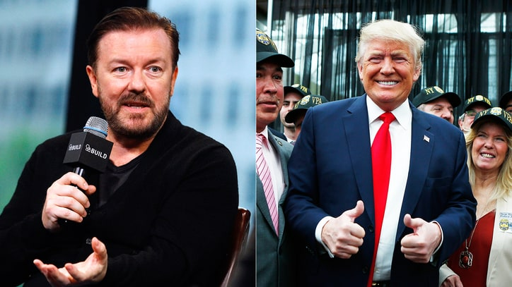 Ricky Gervais: Donald Trump 'Would Be the Funniest President'