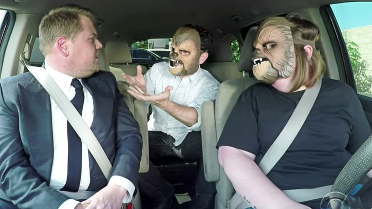 Watch 'Chewbacca Mom' Carpool With J.J. Abrams, James Corden