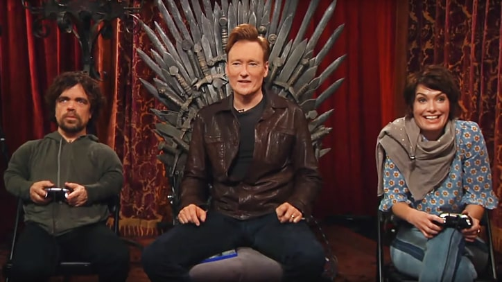 Peter Dinklage, Lena Headey Play for 'Clueless Gamer' Throne on 'Conan'