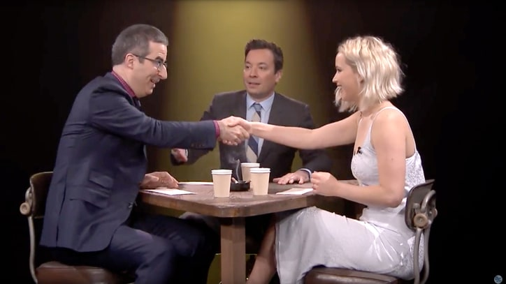 Watch Jennifer Lawrence, John Oliver Play True Confessions With Jimmy Fallon