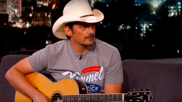 See Brad Paisley Sing About North Carolina Bathroom Law on 'Kimmel'