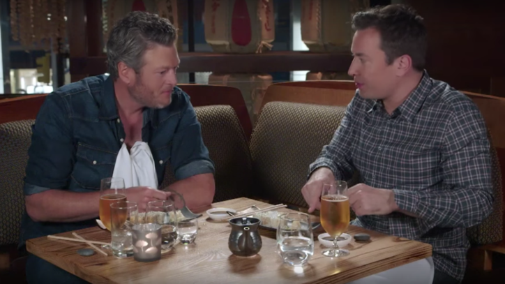 Watch Blake Shelton Eat Sushi for the First Time on 'Fallon'