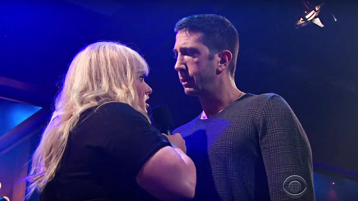 Watch David Schwimmer, Rebel Wilson Rap Battle James Corden