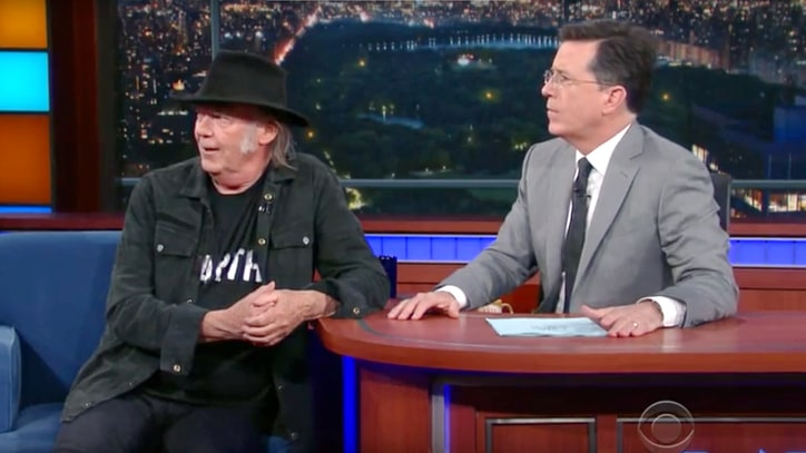 Watch Neil Young Face Off Against GMO Corn on 'Colbert'