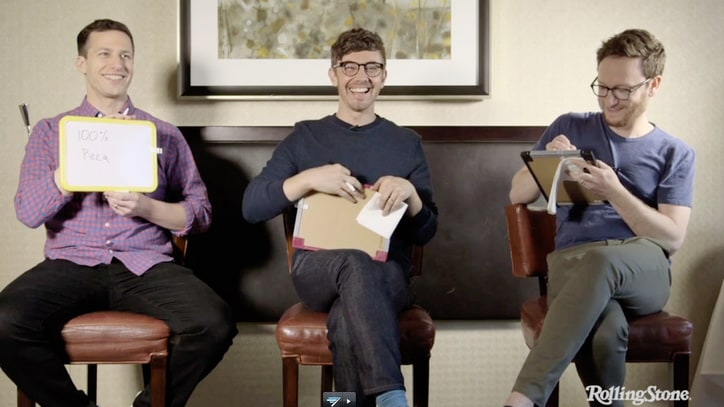 Watch Lonely Island Goofily Play 'The Newlywed Game'