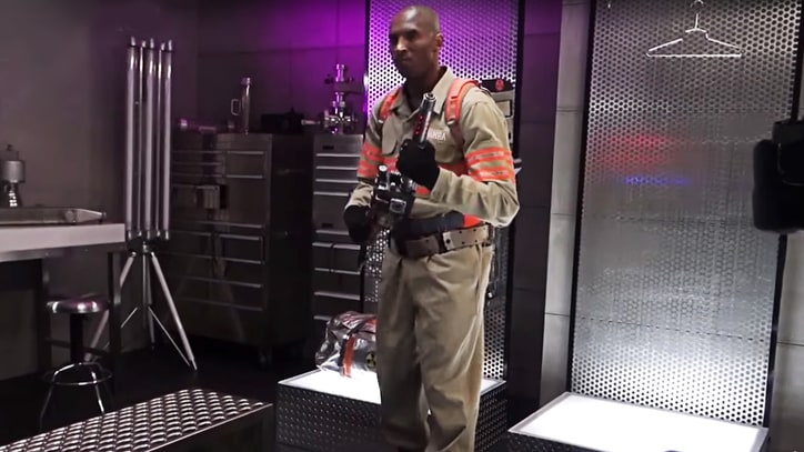 Watch Kobe Bryant Suit Up for 'Ghostbusters' Ad