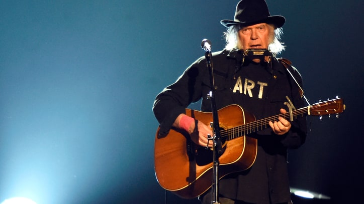 Neil Young Onstage: 'F--k You, Donald Trump'