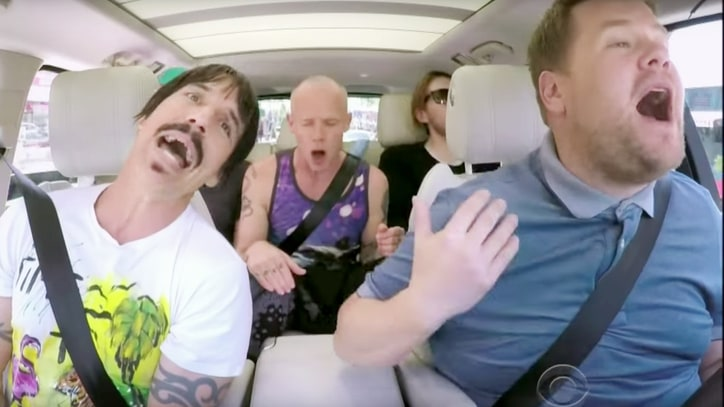 See Red Hot Chili Peppers Sing, Wrestle on 'Carpool Karaoke'