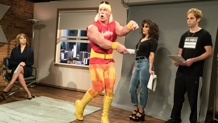 Watch John Cena, Martin Short Wrestle in 'Hulk Hogan v. Gawker' Sketch