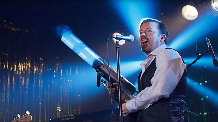 Watch Ricky Gervais Croon, Make Crude Jokes in 'David Brent' Trailer