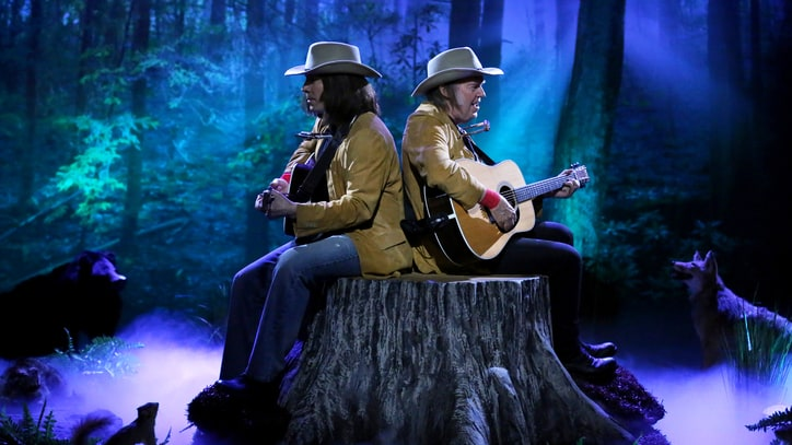 Watch Neil Young Perform With Jimmy Fallon's 'Neil Young' on 'Tonight Show'